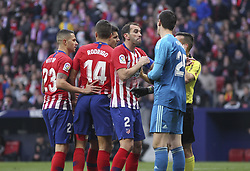 February 9, 2019 - Madrid, Madrid, Spain - Godin of Atletico de Madrid in action during La Liga Spanish championship, , football match between Atletico de Madrid and Real Madrid, February 09th, in Wanda Metropolitano Stadium in Madrid, Spain. (Credit Image: © AFP7 via ZUMA Wire)