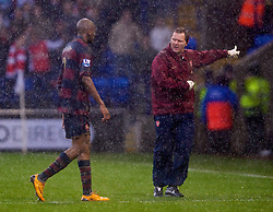 BOLTON, ENGLAND - Saturday, March 29, 2008: Arsenal's Abou Diaby leaves the field dejected after being sent off during the Premiership match against Bolton Wanderers at The Reebok Stadium. (Photo by David Rawcliffe/Propaganda)