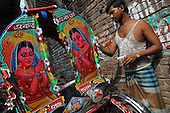 Rickshaw culture in Bangladesh (making and painting) - no india