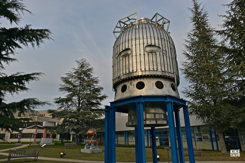 26-ton Big European Bubble Chamber (BEBC), filled with 30 cubic metres of liquefied gas, recorded the interactions of elementary particles. CERN, the European Organization for Nuclear Research, is the biggest particle physics laboratory in the world.