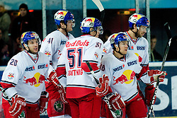 Team EC Red Bull Salzburg during ice-hockey match between EC Red Bull Salzburg and HDD Tilia Olimpija in 20th Round of EBEL league, on November 19, 2010 at Eisarena, Salzburg, Austria. (Photo By Matic Klansek Velej / Sportida.com)
