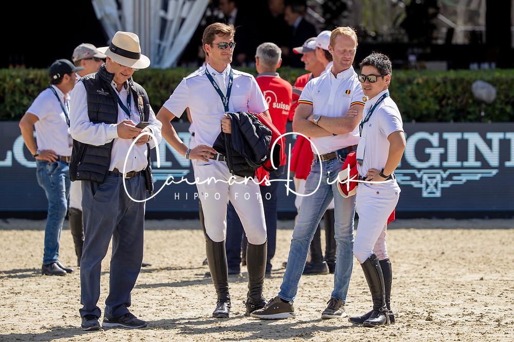 Team Belgium, Weinberg Peter, Philippaerts Olivier, Bruynseels Niels, Sato Eiken<br /> FEI Jumping Nations Cup Final<br /> Barcelona 2019<br /> © Hippo Foto - Dirk Caremans<br />  03/10/2019
