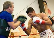 Dec. 8, 2010: Amir Khan worked out on his birthday at the IBA Gym in Las Vegas, in preparation of his Dec. 11 showdown with Marcos Maidana.
