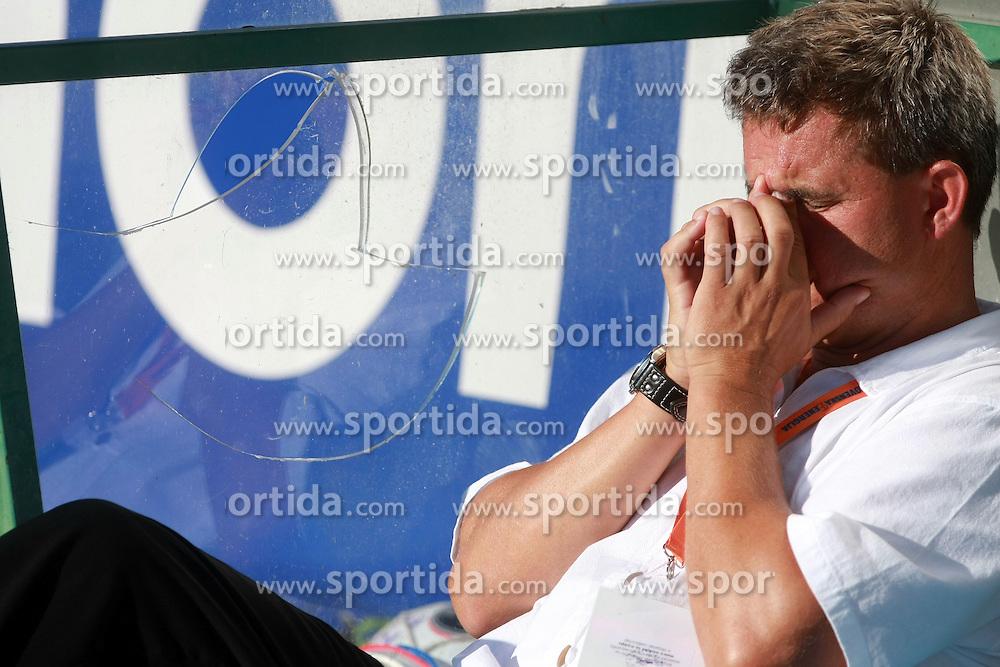 Head coach of Rudar  Marijan Pusnik  at 6th Round of PrvaLiga Telekom Slovenije between NK Primorje Ajdovscina vs NK Rudar Velenje, on August 24, 2008, in Town stadium in Ajdovscina. Primorje won the match 3:1. (Photo by Vid Ponikvar / Sportal Images)