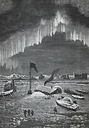 Curtain Aurora Borealis viewed in the Arctic Circle c1880.