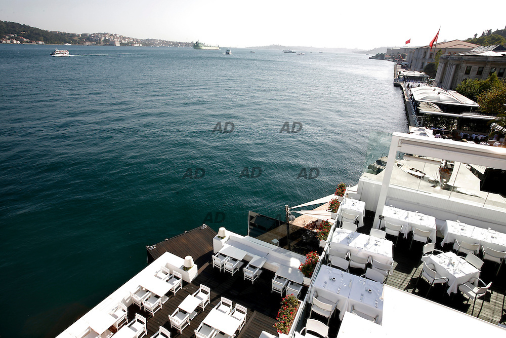 *** Local Caption ***  Banyan restaurant in Ortakoy, on the Bosphorus canal