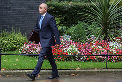 © Licensed to London News Pictures. 15/09/2015. London, UK. Secretary of State for Business, Innovation and Skills Sajid Javid, arriving at Number 10 Downing Street.  Photo credit : James Gourley/LNP