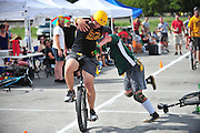 Unicycle Football League in San Marcos, Texas on Sunday, September 15, 2013.