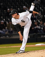 CHICAGO - APRIL 23:  Chris Beck #54 of the Chicago White Sox pitches against the Seattle Mariners on April 23, 2018 at Guaranteed Rate Field in Chicago, Illinois.  (Photo by Ron Vesely)   Subject:   Chris Beck