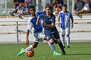 08.04.17; Zuerich; Fussball FCZ Academy - Grasshopper Club - Zuerich FE14 Oberland; <br /> Khalo Gamel (GC) Lanciano Davide (Zuerich) <br /> (Andy Mueller/freshfocus)