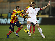 Lecce (LE), 16-01-2011 ITALY - Italian Soccer Championship Day 20 -  Lecce - Milan..Pictured: Ambrosini (M) - Jeda (L).Photo by Giovanni Marino/OTNPhotos . Obligatory Credit
