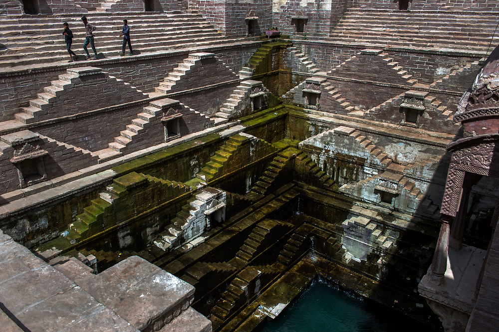 Step well water reservoir in central Jodhpur.