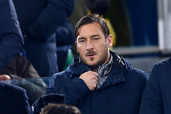 December 16, 2017 - Rome, Italy - Former Roma captain Francesco Totti on the stands during the Italian Serie A football match Roma vs Cagliari, on December 16, 2017 at the Olimpico stadium in Rome. (Credit Image: © Matteo Ciambelli/NurPhoto via ZUMA Press)