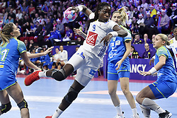 France player Astrid Ngouan during the Women's european handball chanmpionship preliminary round, Slovenia vs France. Nancy, Fance -02/12/2018//POLEMILE_01POL20181202NAN025/Credit:POL EMILE / SIPA/SIPA/1812021731
