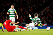 Aberdeen's  Andrew Considine (4) and Celtic's Patrick Roberts (27) during the Betfred Scottish Cup  Final match between Aberdeen and Celtic at Hampden Park, Glasgow, United Kingdom on 27 November 2016. Photo by Craig Galloway.
