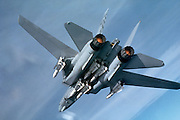 F-14A with afterburner lit