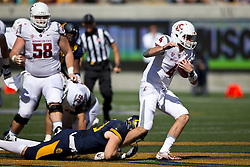 BERKELEY, CA - OCTOBER 03:  Quarterback Luke Falk #4 of the Washington State Cougars is sacked by defensive end Kyle Kragen #13 of the California Golden Bears during the first quarter at California Memorial Stadium on October 3, 2015 in Berkeley, California. (Photo by Jason O. Watson/Getty Images) *** Local Caption *** Luke Falk; Kyle Kragen
