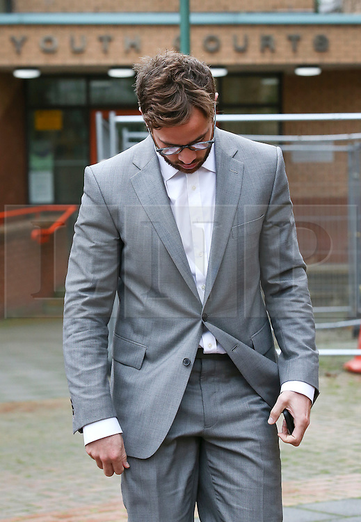© Licensed to London News Pictures. 10/12/2015. London, UK. Rugby player DANNY CIPRIANI leaves West London magistrates court in London where he faced drink driving charges. England international Danny Cipriani was arrested after his Mercedes was involved in a collision with a Toyota in Chelsea, west London on June 1, 2015. Photo credit: Peter Macdiarmid/LNP