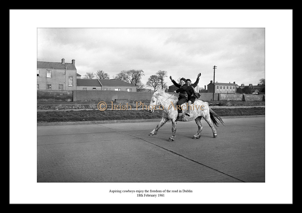 Great shot of two young cowboys enjoying their freedom by Lensman Photographic Agency. Irish Photo Archive has a great gallery of commercial photographs in Dublin.