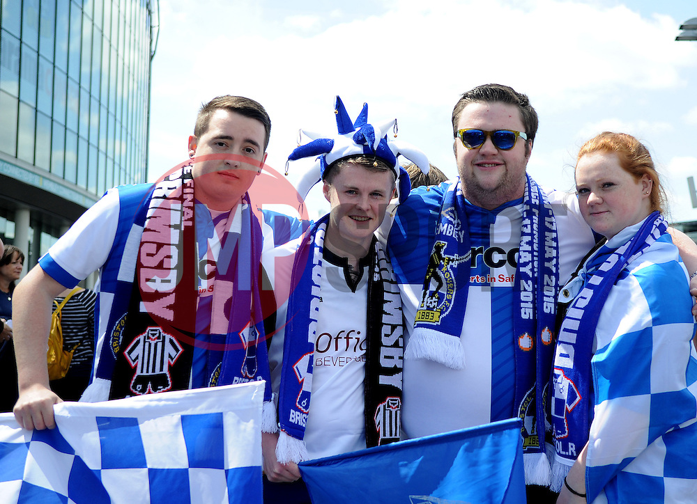 - Photo mandatory by-line: Neil Brookman/JMP - Mobile: 07966 386802 - 17/05/2015 - SPORT - football - London - Wembley Stadium - Bristol Rovers v Grimsby Town - Vanarama Conference Football