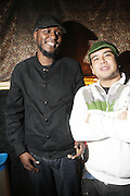 Khalil Supastar(Garden Grown Ent) and Guest backstage at Shattuck Down Low in support of Educational Relief for surrounding communities of Northern California on January 28, 2010 in Berkeley, California. Photo Credit: Terrence Jennings/Retna