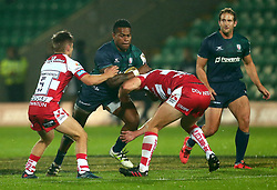 Isireli Seva of London Irish is tackled - Mandatory by-line: Robbie Stephenson/JMP - 28/07/2017 - RUGBY - Franklin's Gardens - Northampton, England - Gloucester Rugby v London Irish - Singha Premiership Rugby 7s