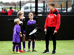 Luke Freeman interacts with children at The BCCT EFL Kids Cup Final - Mandatory by-line: Robbie Stephenson/JMP - 23/11/2016 - FOOTBALL - South Bristol Sports Centre - Bristol, England - BCCT EFL Kids Cup