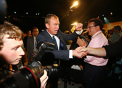 Liberal Democrat Leader Tim Farron is congratulated after he delivered his keynote speech on the final day of the Liberal Democrats Autumn Conference in Brighton.