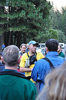 Info session for survivors. Rock Slide at Curry Village in Yosemite Valley on 07-October-2008.