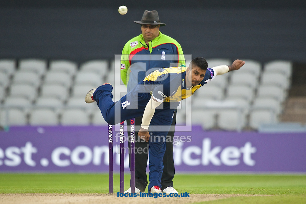 Ateeq Javid of Birmingham Bears during the Natwest T20 Blast match at Old Trafford Cricket Ground, Stretford<br /> Picture by Ian Wadkins/Focus Images Ltd +44 7877 568959<br /> 30/05/2014