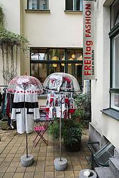 FREItag Fashion boutique in Hackescher Markt courtyard in Berlin Germany