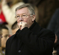 Photo: Aidan Ellis.<br /> Manchester United v Chelsea. The Barclays Premiership. 26/11/2006.<br /> United boss Sir Alex Ferguson