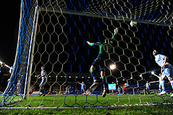 Jonson Clarke-Harris of Bristol Rovers heads the ball at Marko Marosi of Coventry City - Mandatory by-line: Ryan Hiscott/JMP - 14/01/2020 - FOOTBALL - St Andrews Stadium - Coventry, England - Coventry City v Bristol Rovers - Emirates FA Cup third round replay