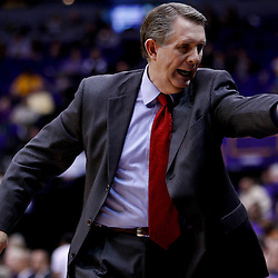 November 30, 2010; Baton Rouge, LA, USA;  Houston Cougars head coach James Dickey during the first half of a game against the LSU Tigers Tigers at the Pete Maravich Assembly Center.  Mandatory Credit: Derick E. Hingle