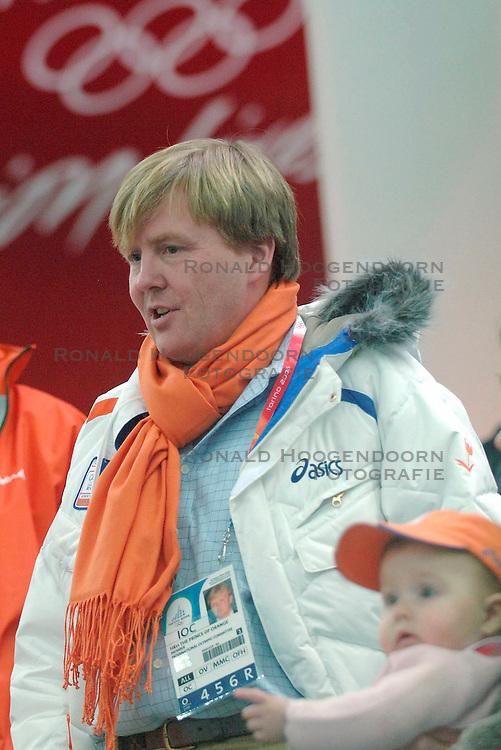 11-02-2006 SCHAATSEN: OLYMPISCHE WINTERSPELEN: 3000 METER DAMES: TORINO<br /> Prins Willem Alexander en Amalia<br /> &copy;2006-WWW.FOTOHOOGENDOORN.NL