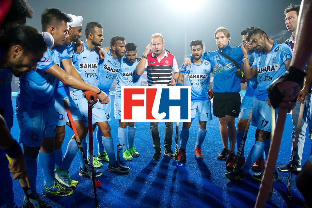 Odisha Men's Hockey World League Final Bhubaneswar 2017<br /> Match id:02<br /> Australia v India<br /> Foto: Sjoerd MARIJNE after the match speech, think he seem to say.<br /> WORLDSPORTPICS COPYRIGHT FRANK UIJLENBROEK