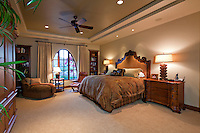 Spacious bedroom in luxury manor house