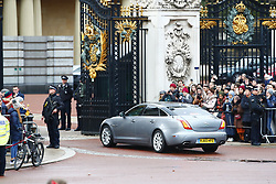 © Licensed to London News Pictures. 13/12/2019. London, UK. Police line The Mall as Prime Minister Boris Johnson is driven to Buckingham Palace for an audience with Queen Elizabeth II after the 2019 General Election results showed a majority for the Conservative Party. The Conservatives are predicted to win the election with a majority of 64 seats. Photo credit: Peter Macdiarmid/LNP
