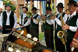 Bandinha típica alemã, se apresenta no centro da cidade de Nova Petrópolis, na Serra Gaúcha. FOTO: Itamar Aguiar/ Agência Preview