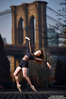 Dance As Art Streets of Dumbo Series with dancer Michel Ashley Chord
