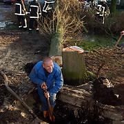 Stormschade, waterleiding lekkage en verwijderen boom door brandweer Kajuit Huizen