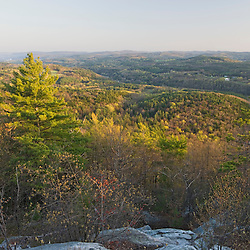 The view south from Black Mountain in Dummerston, Vermont.