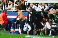 David LUIZ / Thiago SILVA - 15.04.2015 - Paris Saint Germain / Barcelone - 1/4Finale Aller Champions League<br />
