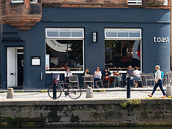 Exterior of Toast  cafe restaurant and bar in Leith, Scotland UK