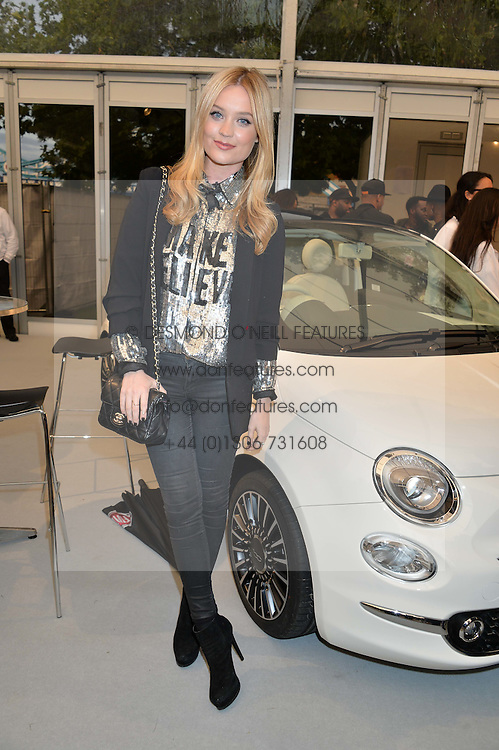 LAURA WHITMORE at the launch of the new remastered Fiat 500 featuring an exclusive performance by Ella Eyre held in Potters Field Park, Southwark, London SE1 on 2nd September 2015.