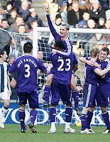 Photo: Steve Bond/Richard Lane Photography. West Bromwich Albion v Newcastle United. Barclays Premiership. 07/02/2009. Peter Lovenkrands celebrates