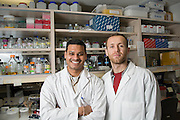 Karthikeyan Narayanan (left) and Zafer Dallal Bashi are University of Saskatchewan PhD students in food and bio-product sciences who are developing a biodiesel plant that utilizes waste vegetable oil as a feedstock. Their company, Eco Oil, is based on building a network for waste oil collection and converstion to biodiesel, thereby fostering the development of biodiesel production in local communities.