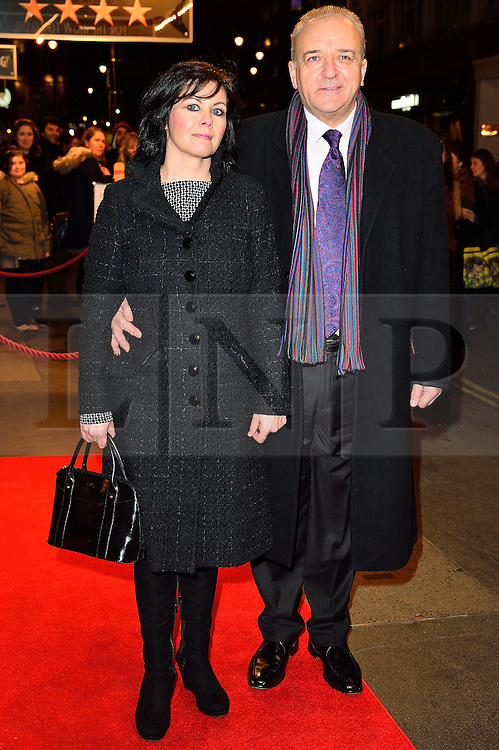 © Licensed to London News Pictures. 16/02/2016. EMMA HARBOUR and JOHN BOWE arrive for the press night of Mrs Henderson Presents press night at the Noel Coward Theatre. London, UK. Photo credit: Ray Tang/LNP
