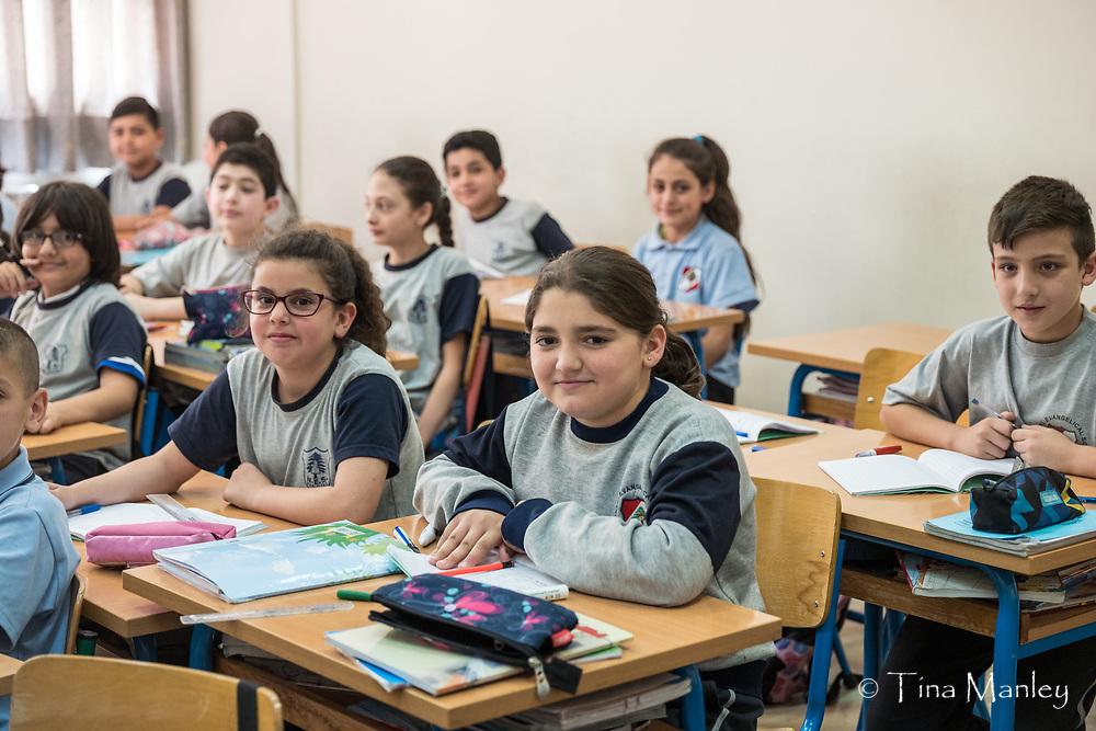 National Evangelical School in Kab Elias, first grade through high school.