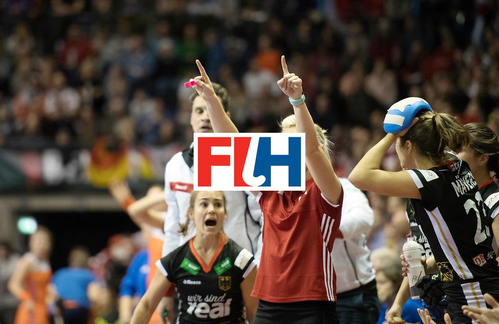 BERLIN - Indoor Hockey World Cup<br /> Final: Netherlands - Germany<br /> foto: Umpire BAGDANSKIENE Vilma<br /> WORLDSPORTPICS COPYRIGHT FRANK UIJLENBROEK